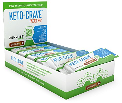 Keto Fat Protein Bar - Ketogenic Diet Snacks for Metabolism, Energy Boost & High-Performance - with MCT Oil, Cacao Butter & Organic Almond Butter - 5G Net Carbs - 12 Pack