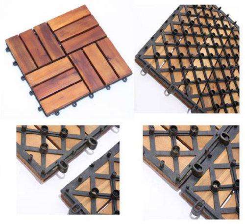 Juego de listones de madera de accacia para jardín o terraza: Amazon.es: Bricolaje y herramientas