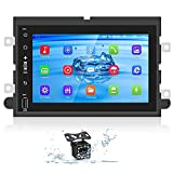 Car Stereo for Ford F150/F250/350/ Ford Explorer Fusion Focus Android Car Radio 7 Inch Touchscreen Stereo in Dash Multimedia Player with GPS+WiFi+BT+FM Support Phone Mirror Link & Backup Camera