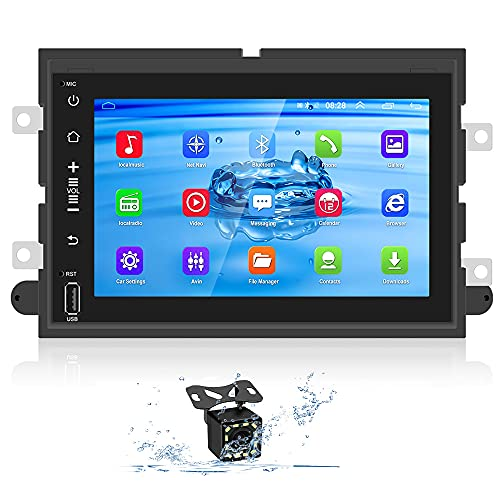 Car Stereo for Ford F150 F250 350  Ford Explorer Fusion Focus Android Car Radio 7 Inch Touchscreen Stereo in Dash Multimedia Player with GPS+WiFi+BT+FM Support Phone Mirror Link & Backup Camera