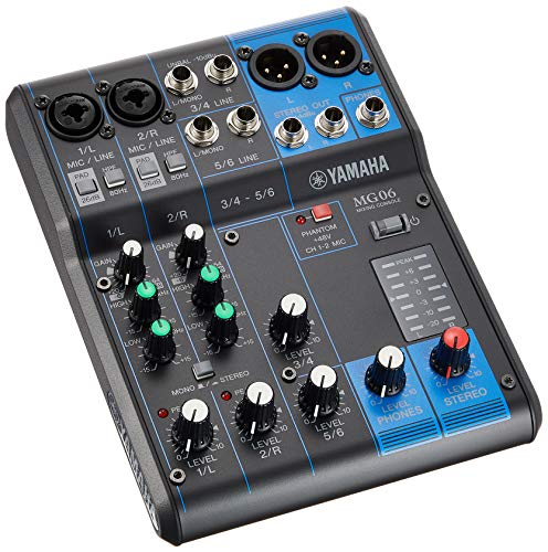YAMAHA 6-channel mixing console MG06