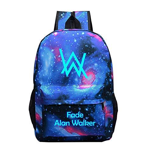 T-MIX Luminous Rucksack, Unisex DJ Alan Walker Rucksack Laptop-Rucksack Kühltasche für Jugendliche, Reisetasche, Arbeitstasche, Schultasche