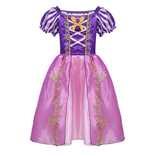 iiniim Vestido de Princesa para Niña Tutú Unicornio Disfraz Infantil de Pirata Traje de Fairy Tales Disfraces de Fiesta Halloween Cosplay Costume Morado 12-18 Meses