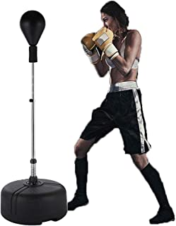 Yiilove Free Standing Punching Bag Speed Ball Reflex Boxing Bag Adjustable Height for Adults & Teenagers