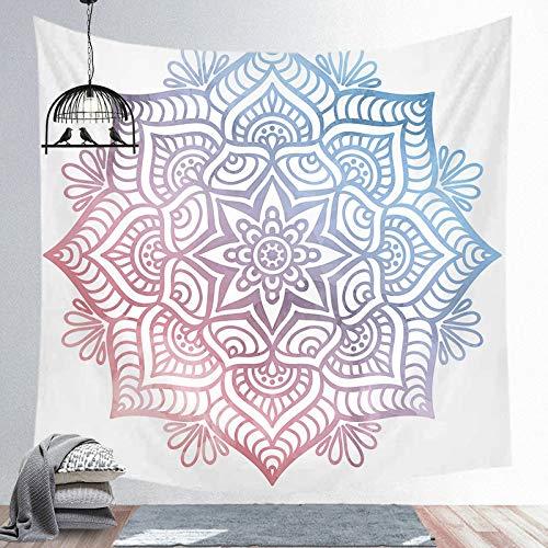 KHKJ Tapiz Negro Azul Sol Luna Mandala tapices de Pared Hippie Colgante de Pared Bohemio hogar habitación Pared Arte decoración A11 200x150cm