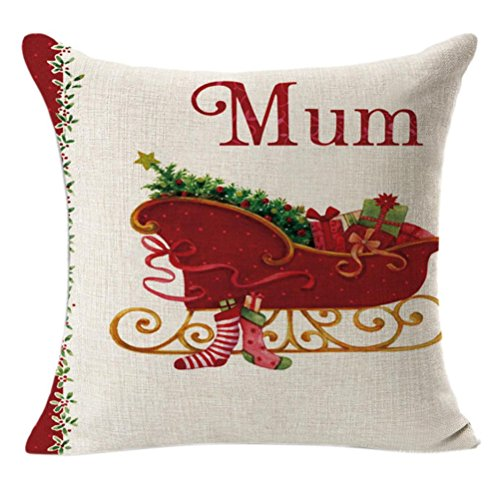 Christmas hristmas Super Soft Square Throw Pillow Case Decorative Cushion Pillow Cover(B)