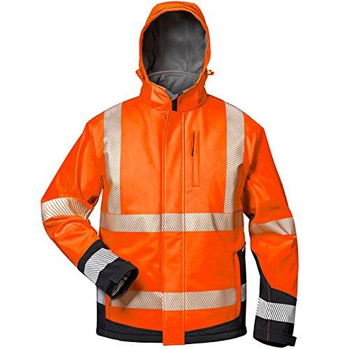 Elysee 23436-S Warnschutz Winter-Softshelljacke Lukas Größe S in orange/schwarz, S