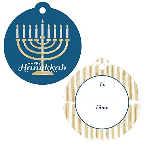 Big Dot of Happiness Happy Hanukkah - Chanukah to and from Favor Gift Tags - Set of 20