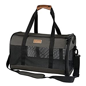 Akinerri Airline Approved Pet Carriers,Collapsible Soft Sided Pet Travel Carrier for Dogs and Cats (Large)