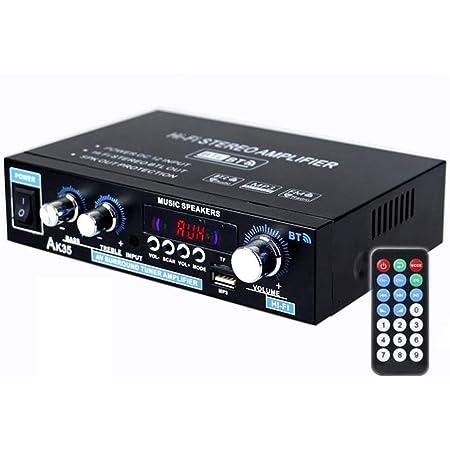 Bluetooth5.0 アンプ パワーアンプ 50W×2 オーディオアンプ スピーカー USB/TFカード再生可 Hi-Fiステレオデジタルアンプ 高性能 高音質 家庭用 カー アンプ 重低音 リモコン付き
