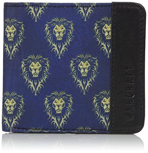 Warcraft Alianza cartera logotipo de la película azul 10x9,5x1cm negro