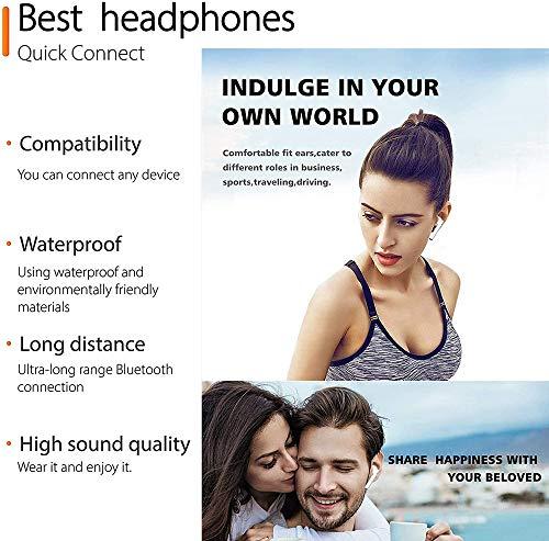 Auriculares inalámbricos Bluetooth 5.0,Control táctil, IPX5 reducción del Ruido estéreo 3D HD, con micrófono y Estuche de Carga portátil para Todos Bluetooth de Android/iPhone/Samsung miniatura
