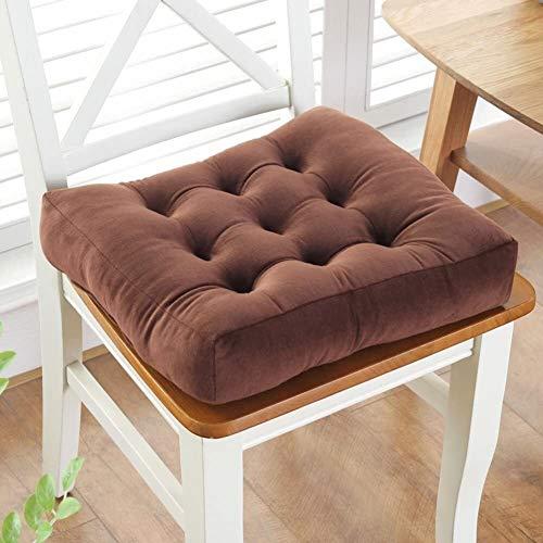 Cojín de suelo suave y grueso, cojín para el suelo, cojín de asiento cuadrado sólido antideslizante Tatami oficina comedor silla cojín cojín gris oscuro 50 x 50 cm, tamaño: 45 x 45 cm, color: naranja