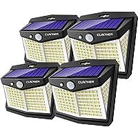 4-Pack Claoner IP65 Waterproof Solar Motion Sensor Lights