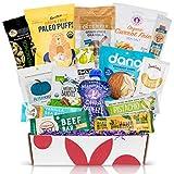 PALEO Diet Snacks Gift Basket: Mix of Whole Foods Protein Bars, Grain Free Granola, Cookies, Jerky Meat Sticks, Fruit & Nut Snacks Healthy Sampler Box