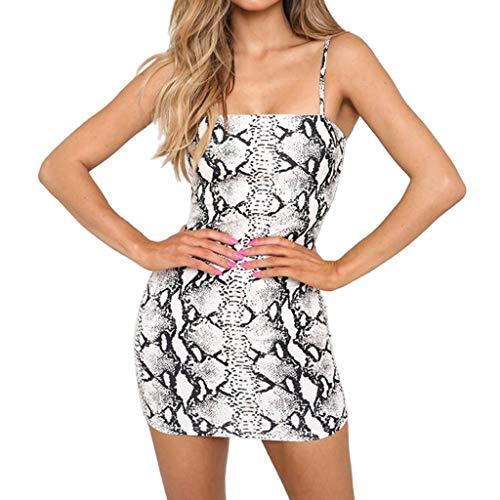 Sayla Damen Kleider Sommer Sexy Casual Elegant Abendkleider Freizeit Party äRmelloses Spaghettiband Leopardenmuster Zweiteiler Sexy Club Bodycon Club Minirock Und Tops Sets