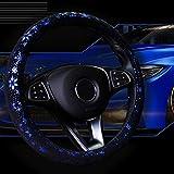 Coprivolante per auto brillanti fiocco di neve 4 colori antiscivolo carino per donne da 15 pollici blu
