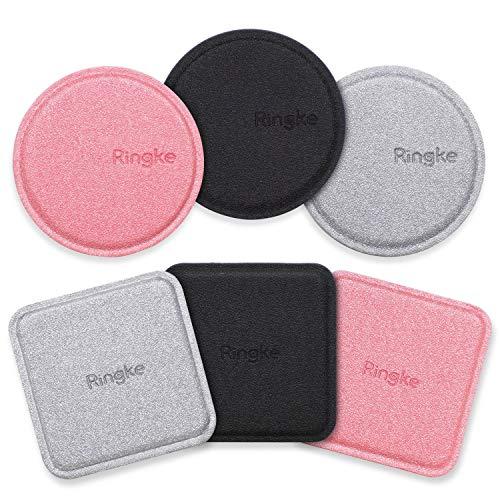Ringke Montura Magnética Recambio Placa Metalica Kit (6 Pack) con Almohadilla Adhesiva de 3M Universalmente Compatible con la Base del Soporte para Automóvil con Imán para Teléfono - Colores S