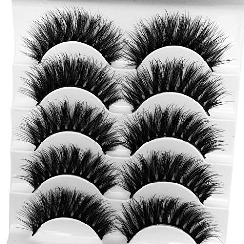 wyxhkj faux cils 3D Eyelash Imitation Mink Natural Thick False Eyelash 5 Pairs (G)