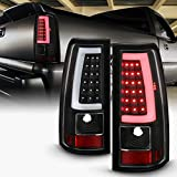 ACANII - For 2003-2006 Chevy Silverado 1500 2500 3500 Black Housing LED Tube Tail Lights Brake Lamps Assembly Left+Right