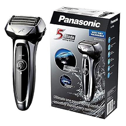 Panasonic ES-LV65-S803 Premium Wet & Dry - Afeitadora Eléctrica para Hombre/Máquina de Afeitar de Láminas para Barba Recargable e Inalámbrica Fabricada en Japón (Motor Lineal, Wet&Dry, 5 Cuchillas)