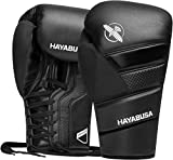 Hayabusa T3 Lace Boxing Gloves for Men and Women - Black, 12