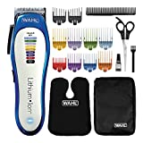 Wahl Hair Clippers for Men, Colour Pro Cordless Clipper, Lithium Head Shaver, Men's Hair Clippers with Colour Coded Length Guides, Professional Quality, Home Haircutting Kit