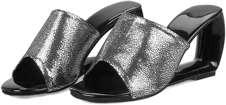 Zarbrina Woman Slippers Bohemian Style Fashion Open Toe Summer High Heel Mules Wedges Outside shoes Comfortable Slip