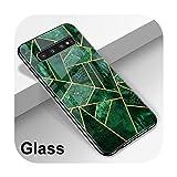 Hopereo Coque de luxe en verre effet marbre pour Samsung Galaxy A51 A50 A71 A70 S20 S10 S9 S8 A31...