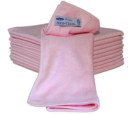 Aqua CLEAN Microfaser X-Treme Tücher 10er Set (pink)