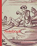 Notebook: Scene tile, good Samaritan gives lying jew to drink, corner motif of ox-head