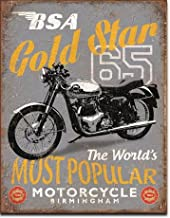 Art/Artwork - Licensed Collectibles, Classic, Vintage, Retro, Antique and Original Designs - Motorcycle Themed Home/Office/Garage Decor [35422107] - BSA '65 Gold Star