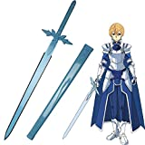 Yongli Sword Sword Art Online SAO Kirito Asuna Cosplay Sword Japanese Anime Game Katana Carbon Steel (Eugeo-Blue Rose)