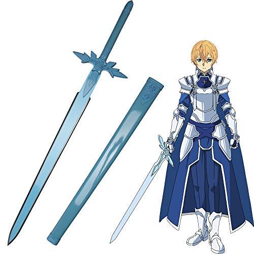 Yongli Sword Sword Art Online SAO Kirito Asuna Cosplay Sword Japanese Anime Game Katana Carbon Steel (Eugeo-Blue Rose)