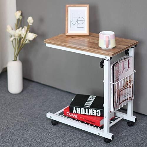 Laptoptisch Mit Rollen, Beistelltisch Bett Höhenverstellbar Laptopständer,Notebookständer Tragbarer, Computertisch, Sofa-Beistelltisch (Color : B)