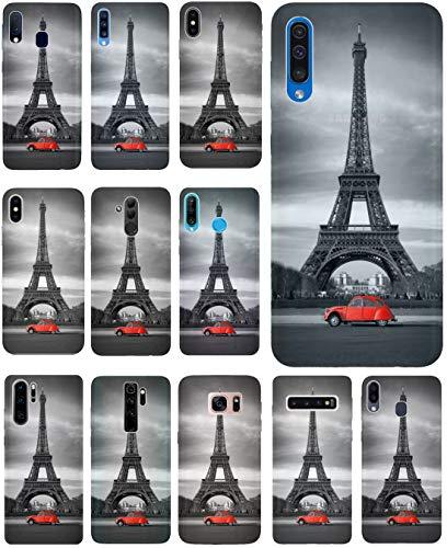 CoverHeld Hülle für Samsung Galaxy A70 Handyhülle Design 216 Eifelturm Paris aus flexiblem Silikon SchutzHülle Softcase HandyCover Hülle für Samsung Galaxy A70