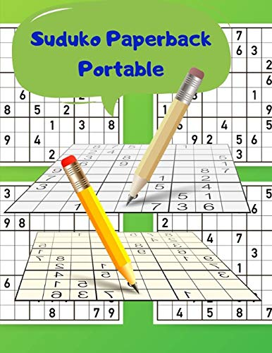 Suduko Paperback Portable: How to be good at maths - brain workout tips and techniques to train your mind with expert soduko this book.