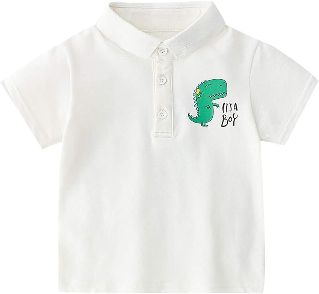 It's a Boy Printed Short-Sleeved Children's Gentleman Polo T-Shirt Summer Children's Tops Tee