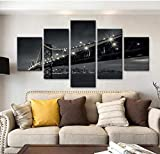 MengJing painting Kunst 5 Leinwand Gemälde Wohnzimmer