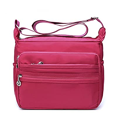 Light-weight Nylon Shoulder Crossbody Bags - Messenger Handbag Purse