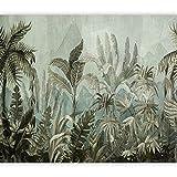 murando Fotomurales Hojas Tropicales 300x210 cm XXL Papel pintado tejido no tejido Decoración de Pared decorativos Murales moderna Diseno Fotográfico Prado Abstracto Naturaleza Botanical b-C-0854-a-a