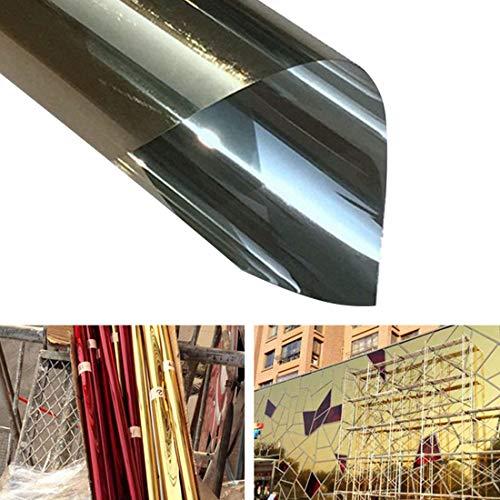 Muursticker, muurdecoratie, muurdecoratie, uv-reflectie, eenzijdig privacydecoratie, raamfolie, breedte 70 cm Goud