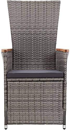 Halten Sie den Liegestuhl (mit Matte), Reb-Lounge-Stuhl, Reb-Lounge-Stuhl, Outdoor Rattan,Grey