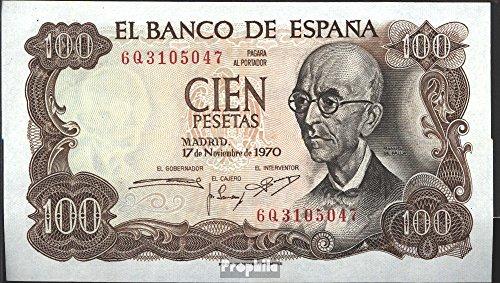 España Pick-No.: 152a bankfrisch 1970 100 Pesetas (billetes para los coleccionistas)