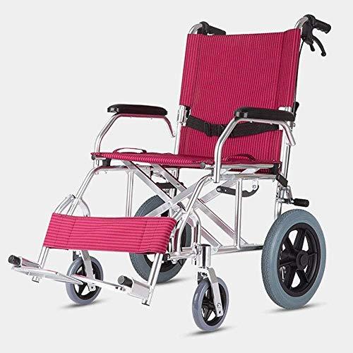 HWZLOIK Metal + EV Oxford, Ergonomisch ontworpen Folding en draagbaarheid for ouderen met een handicap Rolstoelen, Afmetingen: 47 * 63.5cm