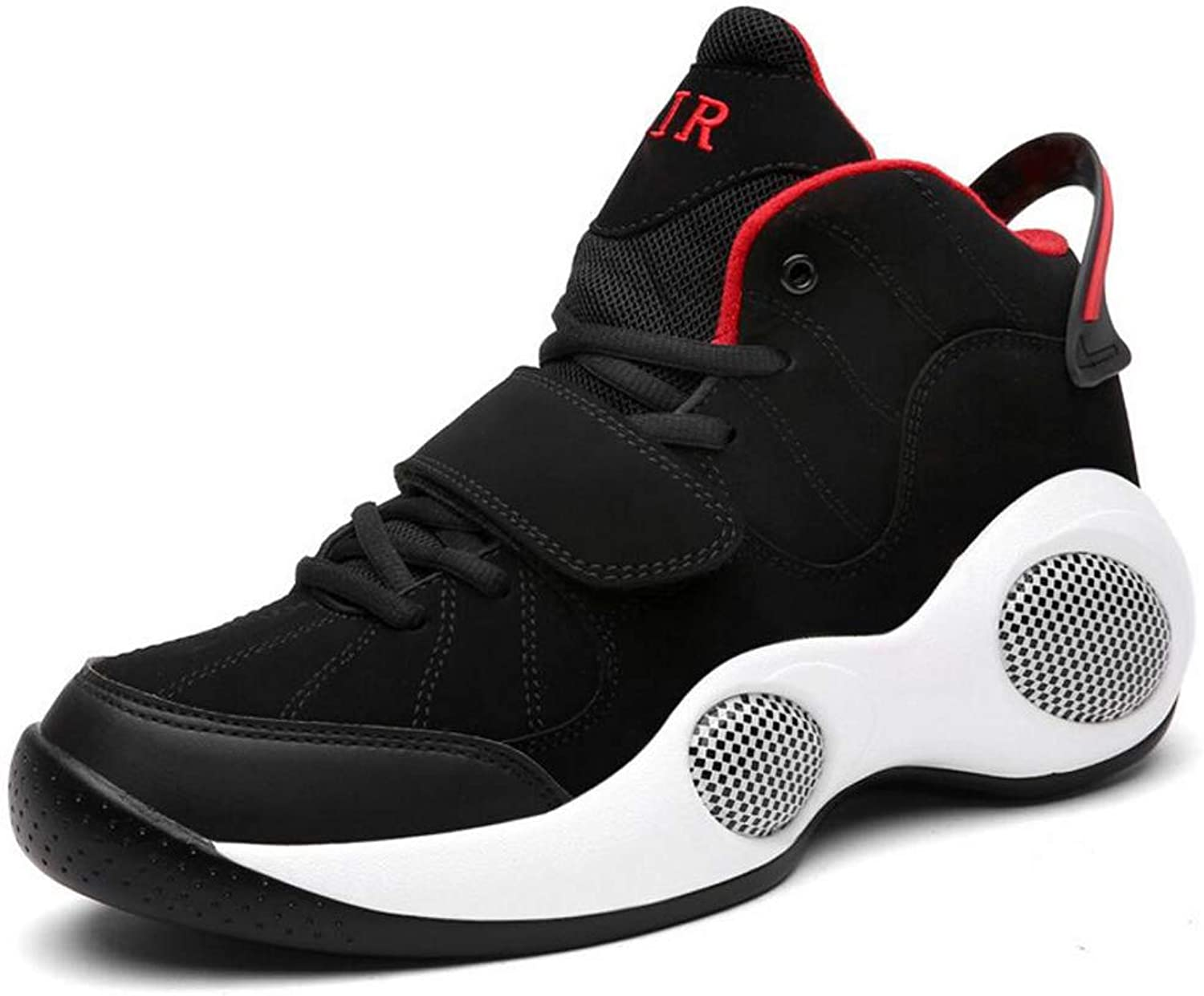 Zxcvb High To Help Large Size Sports Basketball shoes Breathable Outdoor Sports shoes Non-slip Shock Absorption Running Men's shoes