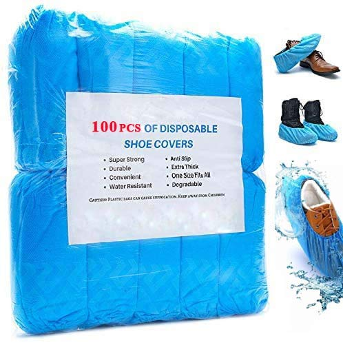 Ezlife Cubrezapatos Desechables Impermeables, 100 Piezas Ant