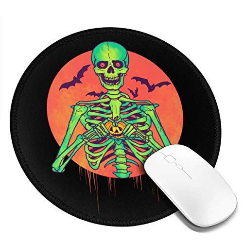 Yuanmeiju I Love Halloween Customized Designs Non Slip Rubber Base Gaming Mouse Pads for Mac,7.9x7.9 in Pc, Computers. Ideal for Working Or Game