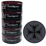 Nip Energy Dip Mixed Berry 5 Cans with DC Crafts Nation Skin Can Cover - Iron Cross