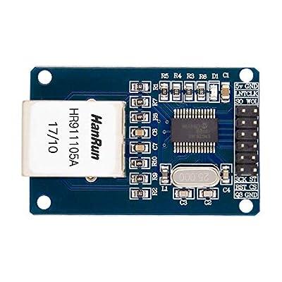 ENC28J60 ENC28J60-I/SO HR911105A Ethernet LAN Network Module SPI Interface 3.3V for Arduino AVR PIC LPC STM32